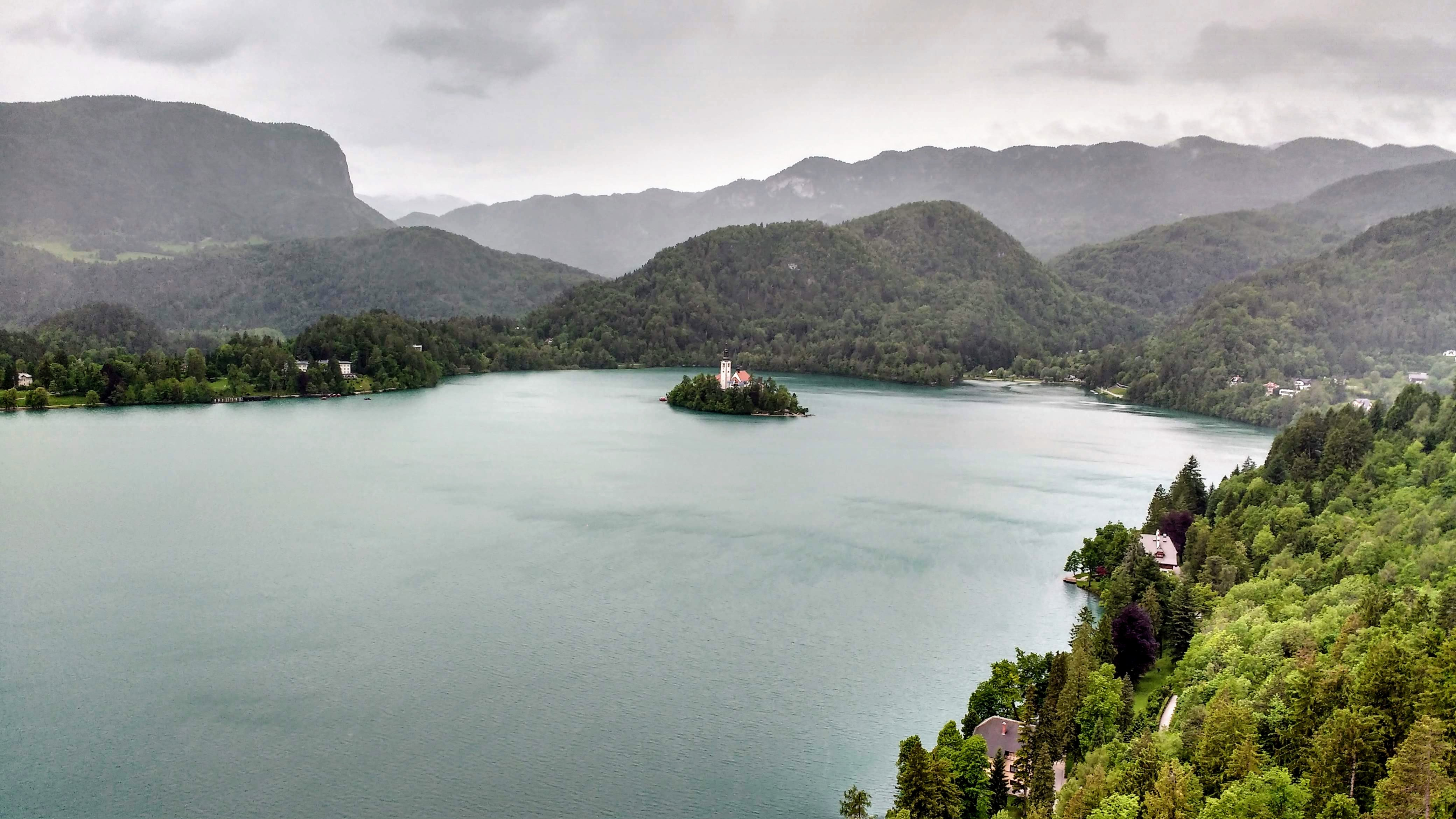 Lake Bled From Bled Castle
